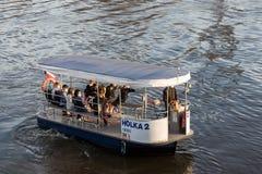 Free Ferry Holka 2, Public Transportation On Vltava River, Between Holesovice And Karlin Stock Photos - 214872583