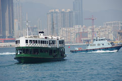 Ferry in Hong Kong Royalty Free Stock Photo