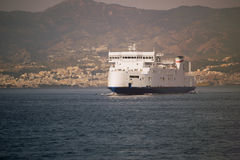 Ferry hull Strait of Messina Sicily Calabria Italy Royalty Free Stock Images