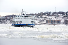 Ferry on ice Stock Photography