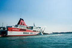 Ferry Ikarus Palace of Greek company Minoan Lines in Venice Stock Image