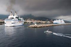 Ferry In Bastia Stock Photo