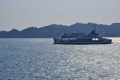 Ferry in the inland sea, Japan Royalty Free Stock Photo