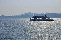 Ferry in the inland sea, Japan Stock Images