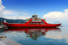 Ferry on the island of Thassos Royalty Free Stock Images