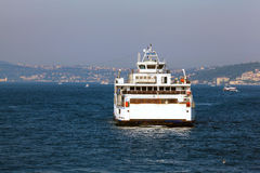 Ferry. A ferry in the Istanbul Strait Royalty Free Stock Photography