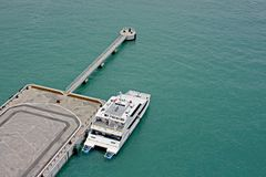 Ferry at Jetty Stock Image