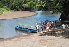 Ferry at La Pavona on the Tortuguero River, Costa Rica Royalty Free Stock Photo