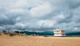 Ferry la stazione da Laredo a Santonya in Kantabria, Spagna del nord Fotografia Stock Libera da Diritti