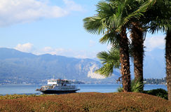 Ferry at Lago Maggiore near Laveno, Italy Stock Photography