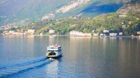 Ferry in Lake Como Bellagio Stock Image