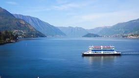 Ferry in Lake Como Bellagio Royalty Free Stock Image