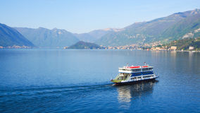 Ferry in Lake Como Bellagio Royalty Free Stock Photography