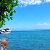 Ferry on the lake constance in Germany Stock Photos