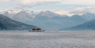 Ferry on the lake Royalty Free Stock Images