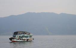 Ferry on the lake Toba Royalty Free Stock Photos