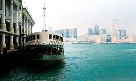 Ferry landing in Honk Kong royalty free stock photo