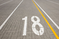 Ferry lane number 18 Stock Image