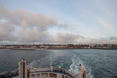 City of Helsingborg, Sweden. Ferry leaving city of Helsingborg in Sweden Royalty Free Stock Image