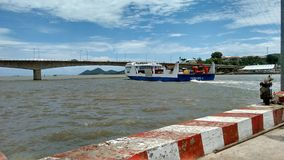 Ferry Leaving Harbor Ha Tien To Phu Quoc Stock Images