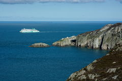Ferry leaving Holyhead in Wales Stock Photography