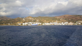 Ferry leaving Lavrio a town Stock Photos