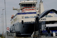 FERRY BETWEEN LOLLAND TOWARD SPODSJERG Royalty Free Stock Images