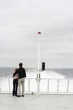 Ferry love. Couple on a ferry boat   in denmark Royalty Free Stock Image