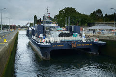 Ferry M/V Susitna at Ballard Locks Royalty Free Stock Images