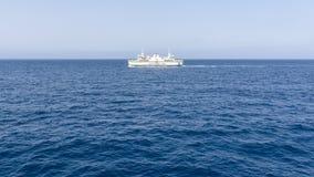 Ferry between mainland of Malta and Gozo island. Horizontal photography summer 2018 Stock Photo