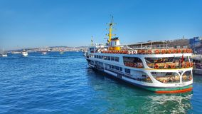 One of Istanbul`s Symbol. A ferry at Marmara Sea. It is one of Istanbul`s symbol Stock Images