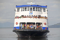 Ferry Massive Transportation Stock Photo