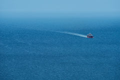Ferry on the Mediterranean sea Stock Photography