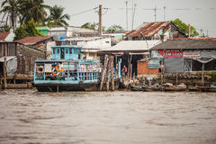 Ferry at Mekong Delta, Vietnam Royalty Free Stock Image