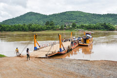 Ferry on Mekong river Royalty Free Stock Image