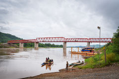 Ferry on Mekong river Royalty Free Stock Photography