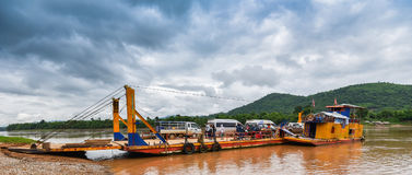 Ferry on Mekong river Stock Image