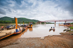 Ferry on Mekong river Stock Photography