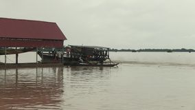 Ferry, mekong, transport, cambodia Royalty Free Stock Photos