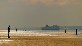 Ferry on the Mersey Royalty Free Stock Photography