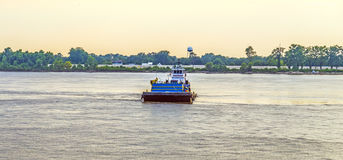 Ferry on the Mississippi river at Baton Rouge Royalty Free Stock Photography