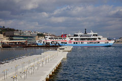 Ferry at Miyajimaguchi ferry-port, Japan Royalty Free Stock Photography