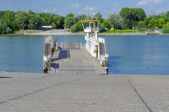 Ferry at Mohacs Royalty Free Stock Images