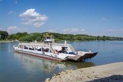 Ferry at Mohacs Royalty Free Stock Photos