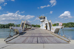 Ferry at Mohacs Stock Photography