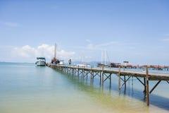 Ferry moored at Na Pra Lan Pier, Koh Samui, Thailand royalty free stock photos