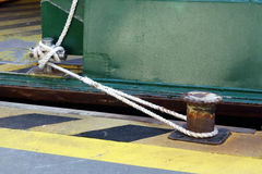 Ferry Mooring Rope Stock Photography