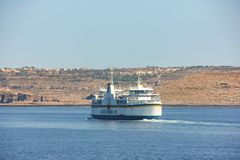Ferry moves to Cirkewwa Ferry Terminal stock images