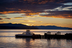 Ferry and Mt. Baker Stock Photography