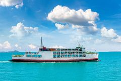 Ferry near Koh Phangan island. Thailand in a summer day royalty free stock images